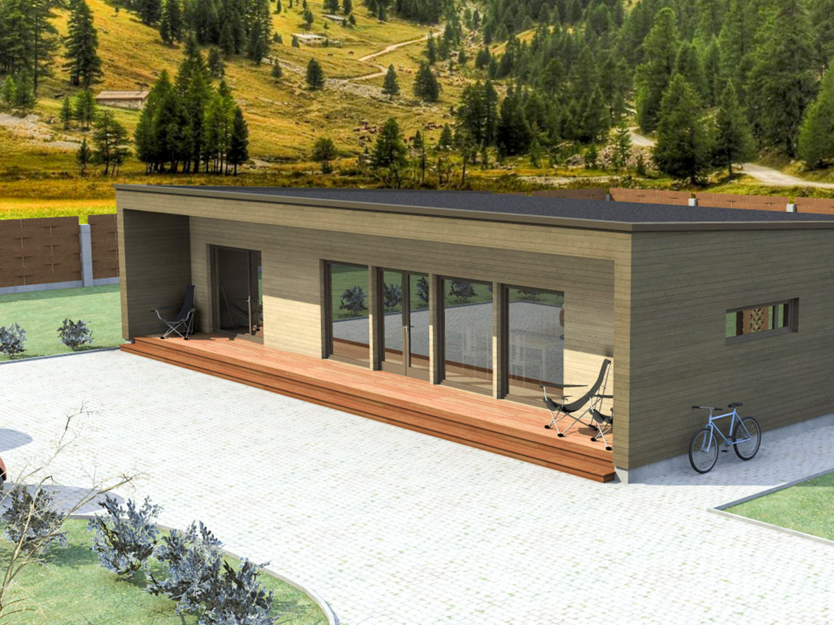 Prefabricated timber frame house design - Bona 120